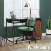 Canyon Lane Home Office Desk Brew Oak Finish with Grand Walnut Accents