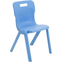 Titan One Piece Classroom Chair Size 6 460mm Seat Height (Ages: 14+ Years) Sky Blue T6-CB - 20 Year Guarantee