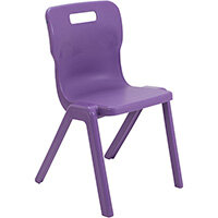 Titan One Piece Classroom Chair Size 6 460mm Seat Height (Ages: 14+ Years) Purple T6-P - 20 Year Guarantee