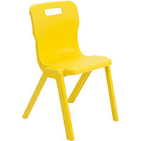Titan One Piece Classroom Chair Size 6 460mm Seat Height (Ages: 14+ Years) Yellow T6-Y - 20 Year Guarantee