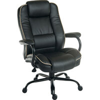 Goliath Duo Heavy Duty Bonded Leather Faced Executive Office Chair In Black - Weight Tolerance: 170kg