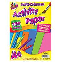 Art Box Activity Paper 100 Sheet A4 Assorted Pack of 12 TAL05044