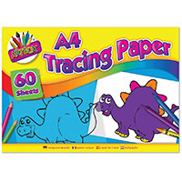 Art Box Tracing Paper Pad A4 60 Sheets Pack of 12 TAL05069