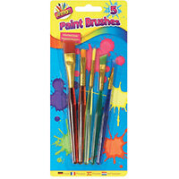 Artbox 5 Assorted Paint Brushes Pack of 12 5453