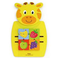 Wall Toy - Mosaic Fruits/Giraffe  - Size: 360 x 550 x 35 mm (L x H x W) - Learn Hand-Eye co-Ordination - Educational Toy - Colour: Yellow
