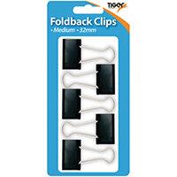 Tiger Medium Fold Back Clips Pack of 60 302005