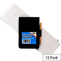Tiger Police Style Notebook including Pencil Pack of 12 300789