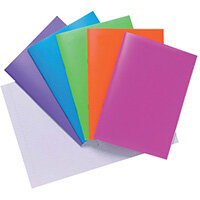 Polypropylene Covered Notebooks A4 40 Sheets Assorted Pack of 10 301550