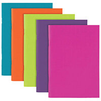 Polypropylene Covered Notebooks A5 40 Sheets Assorted  Pack of 10 301746