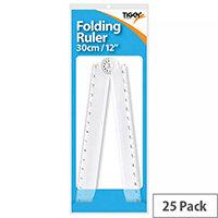 Tiger 30cm Folding Ruler/Protractor Pack of 25 301768