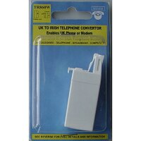 Irish Socket RJ11 to 1 x UK Jack Telephone Socket Adapter Converter