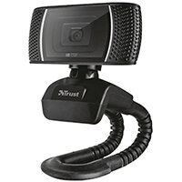 Trust Trino HD Video Webcam - USB 2.0 - 8MP, Resolution of 720p - Mounting Clip - Computer Camera for Laptop, PC - 18679