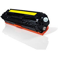 Compatible HP CE322A 128A Yellow 1300 Page Yield Laser Toner Cartridge