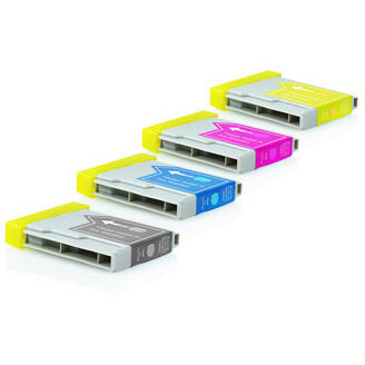 Compatible Brother Multi-Pack LC1000VALBP LC970VALBP Assorted >500 each Page Yield Ink Cartridges
