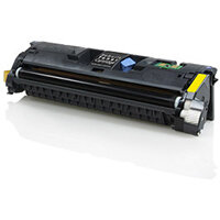 Compatible HP Q3962A / C9702 / Canon 701 Yellow 4000 Page Yield Laser Toner Cartridge