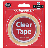 Postpak Clear Stickytape 66m Pack of 24 502183935910