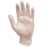 Safe Touch Clear Vinyl Gloves Pack of 100 - Large Ref:UG60101L