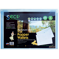 Stewart Superior Eco Biodegradable Wallet A4 Blue Pack of 5 30085-BU