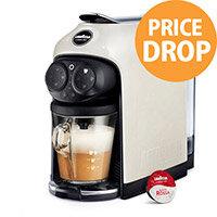 Lavazza Modo Mio Desea Capsule Coffee Machine White Cream