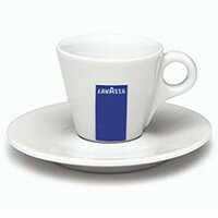 Lavazza Espresso Ceramic 2oz Cups With Saucers Set of 12