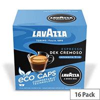 Lavazza Modo Mio  DEK CREMOSO COMPOSTABLE Eco Coffee Capsules Pack of 16 Pods (Min. Order Qty - 2)