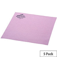 Vileda PVA Microfibre All Purpose Cleaning Cloths Red Pack 5 143586