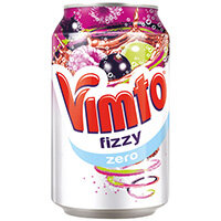 Vimto Zero Sugar 300ml Can Pack of 24 2100