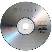 Verbatim CD-R Datalife Non-AZO 80minutes 52X Spindle Pack 25
