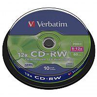 Verbatim CD-RW Datalife Plus Hi-Speed Spindle Pack of 10