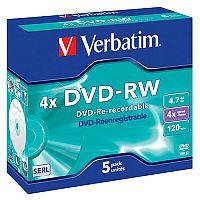 Verbatim DVD-RW 4X 4.7Gb Pack of 5 43285