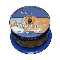 Verbatim DVD-R Printable Spindle Pack of 50 43533