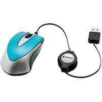 Verbatim Go Mini Optical Travel Mouse Caribbean Blue 49022