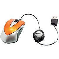Verbatim Go Mini Optical Travel Mouse Volcanic Orange 49023