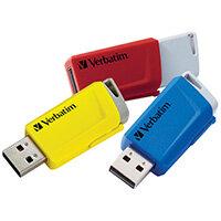 Verbatim Store and Click USB 3.2 16GB Pack of 3 49306