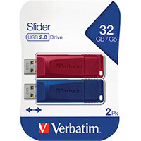 Verbatim Store n Go USB 2.0 32GB Pack of 2 49327