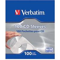 Verbatim CD/DVD Sleeves Paper Pack of 100 49976