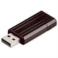 Verbatim PinStripe Drive 16GB Retractable USB Stick Black 49063
