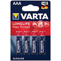 Varta Longlife Max Power AAA Battery Pack of 4 04703101404