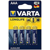 Varta Longlife AAA Battery Pack of 4 04103101414