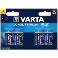 Varta Longlife Power C Battery Pack of 4 04914121414