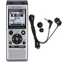 Olympus WS-852 Digital Stereo Voice Recorder 4 GB with TP8 Telephone Recording Mic. 2 x AAA Batteries Included. Device Also Includes A Built In USB Key.