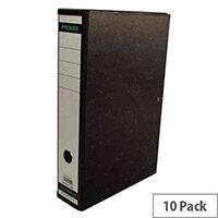 Whitebox Black Cloud Design Box File Foolscap 75mm Spine (Pk 10) WX20012