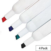 Whiteboard Marker Chisel Tip Assorted Pack of 4 WX26038