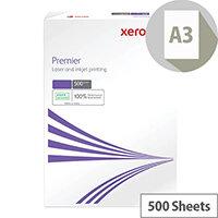 Xerox Premier A3 100gsm White Copier Paper 500 Sheets