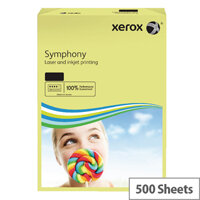 Xerox Symphony Pastel Tints Yellow A4 Paper 80gsm Ream of 500 003R93975