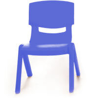 Kite Easy Stack Plastic Classroom Chair 26cm Blue - Lightweight, Stackable & Easy To Clean, Ideal For Play-Schools, Pre-Schools, Junior Infants, Senior Infants, Home Use & More!