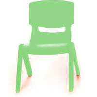 Kite Easy Stack Plastic Classroom Chair 26cm Green - Lightweight, Stackable & Easy To Clean, Ideal For Play-Schools, Pre-Schools, Junior Infants, Senior Infants, Home Use & More!