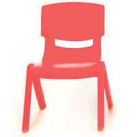 Kite Easy Stack Plastic Classroom Chair 26cm Red - Lightweight, Stackable & Easy To Clean, Ideal For Play-Schools, Pre-Schools, Junior Infants, Senior Infants, Home Use & More!