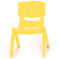 Kite Easy Stack Plastic Classroom Chair 26cm Yellow - Lightweight, Stackable & Easy To Clean, Ideal For Play-Schools, Pre-Schools, Junior Infants, Senior Infants, Home Use & More!