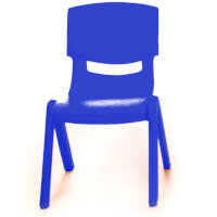 Kite Easy Stack Plastic Classroom Chair 30cm Blue - Lightweight, Stackable & Easy To Clean, Ideal For Play-Schools, Pre-Schools, Junior Infants, Senior Infants, Home Use & More!